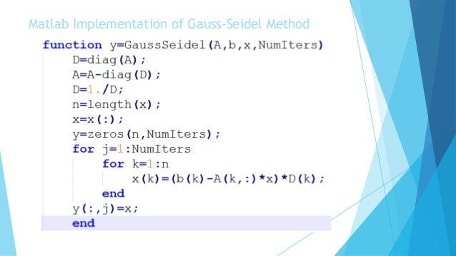 gauss seidel method pdf