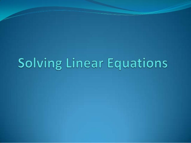 1-step Equations: + and – 2/27/13In elementary school, you solvedequations that looked like this:In Algebra, we just use...