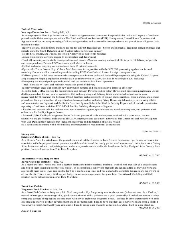 Executive Format Resume Sequential
