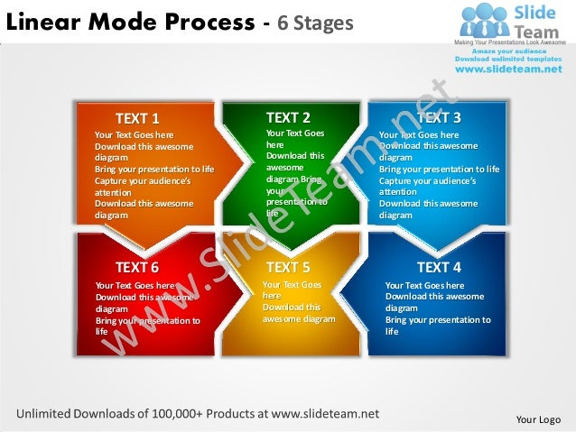 Linear Mode Process - 6 Stages            TEXT 1                       TEXT 2                     TEXT 3       Your Text G...