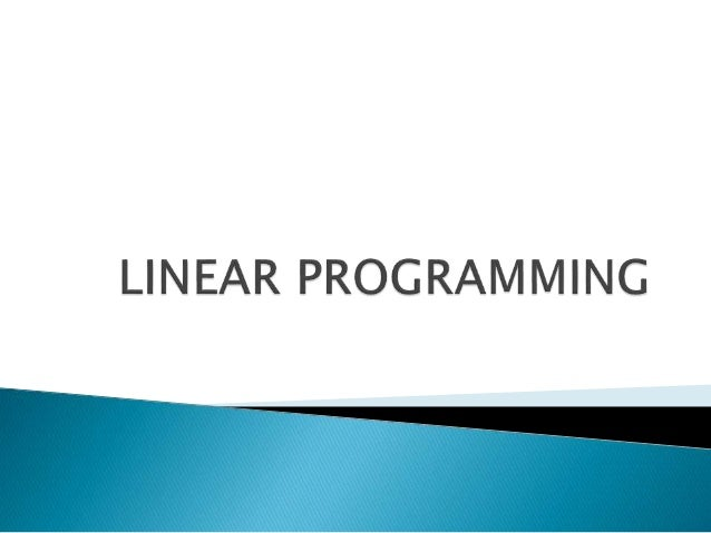 Homework help linear programming