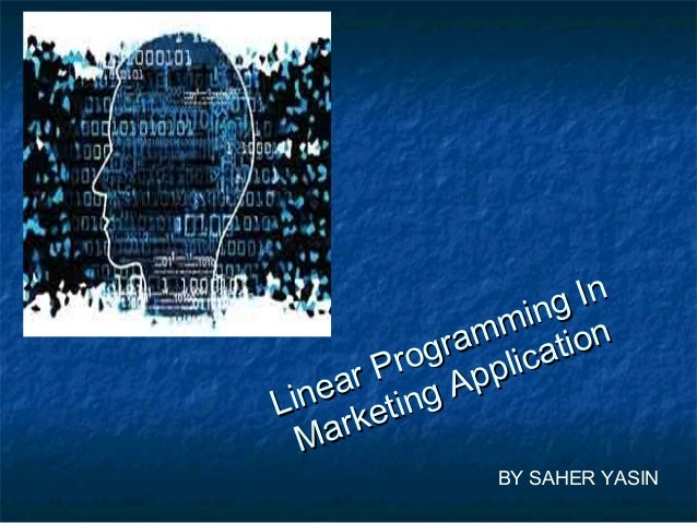 the navy linear programming application Linear programming background acceptance of the broader field of operational research as a scientific approach to decision making linear optimisation the effective application of linear programming requires good understanding of the.