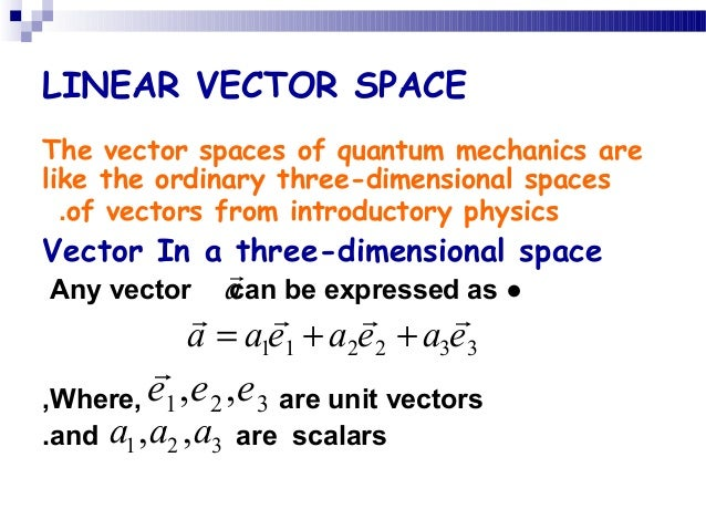 vector space and equation