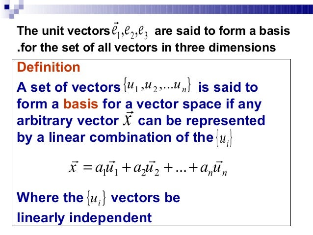 Astonishing basis of a vector space example images
