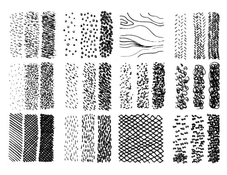 Line Texture Examples : Line texture drawing