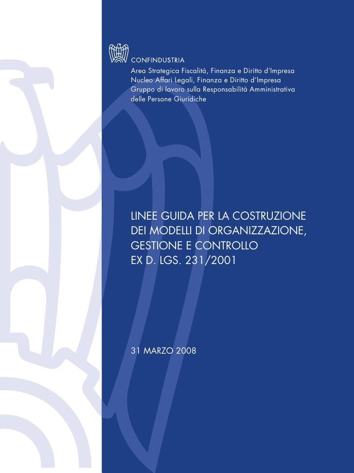 Linee Guida 231 - Confindustria 2008