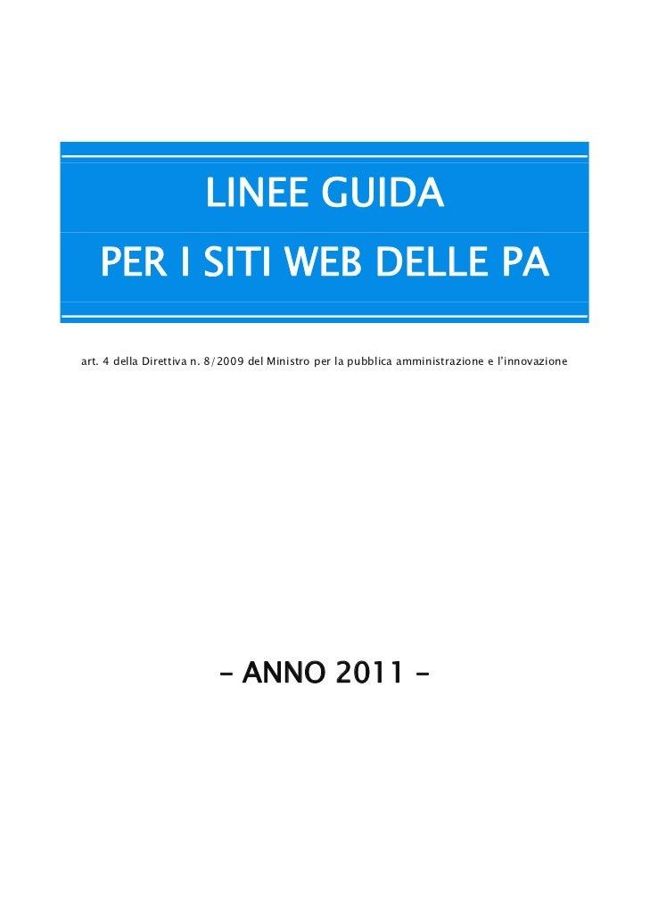 Linee guida siti_web_delle_pa_2011
