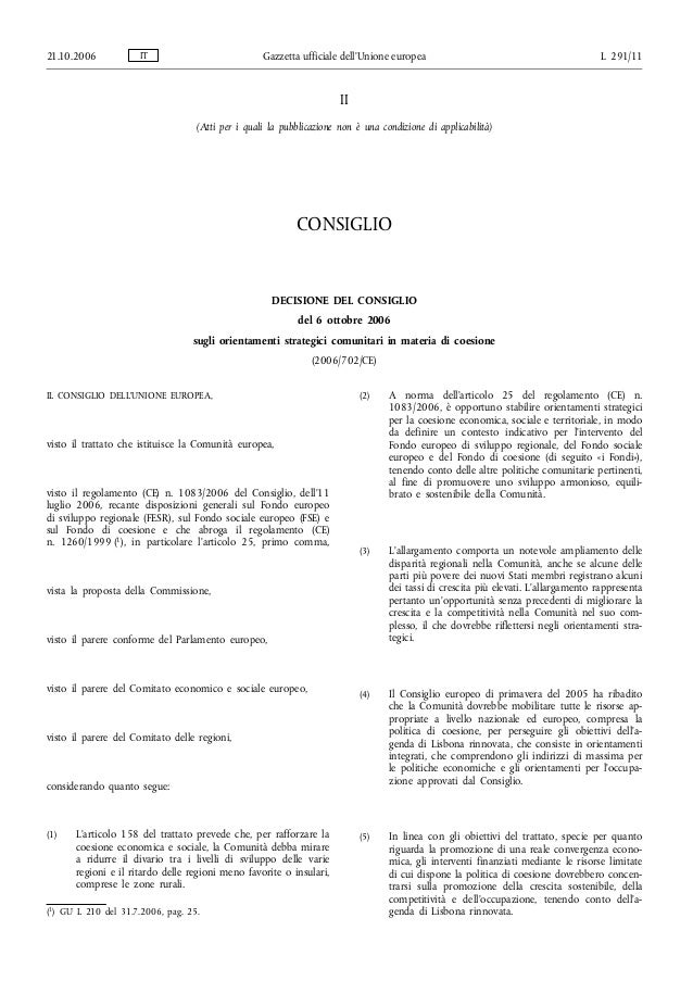 21.10.2006           IT                            Gazzetta ufficiale dell'Unione europea                                 ...