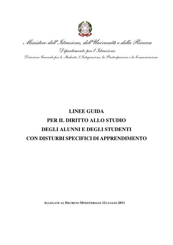 Linee guida sui_dsa_12luglio2011