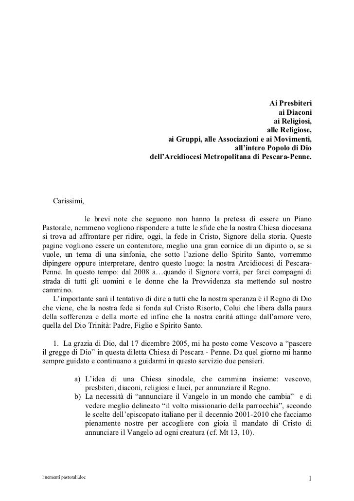 Linementi pastorali dell'arcidiocesi di Pescara-Penne