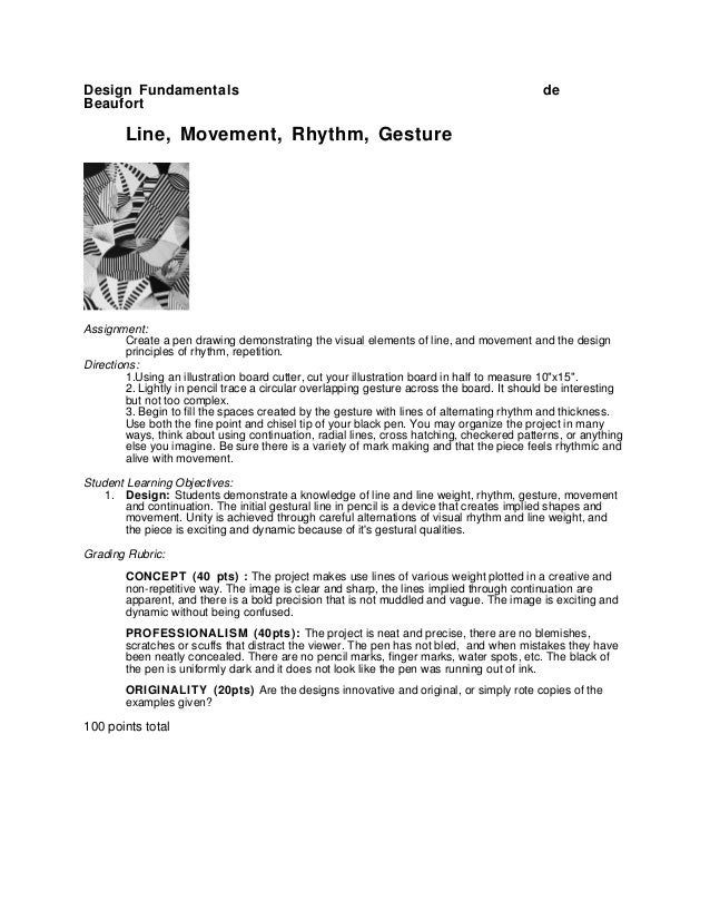 Design Fundamentals                                                                        deBeaufort        Line, Movemen...