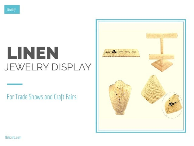Linen displays for trade shows and craft events for Jewelry display trade show