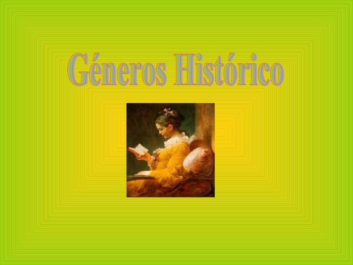Géneros Histórico