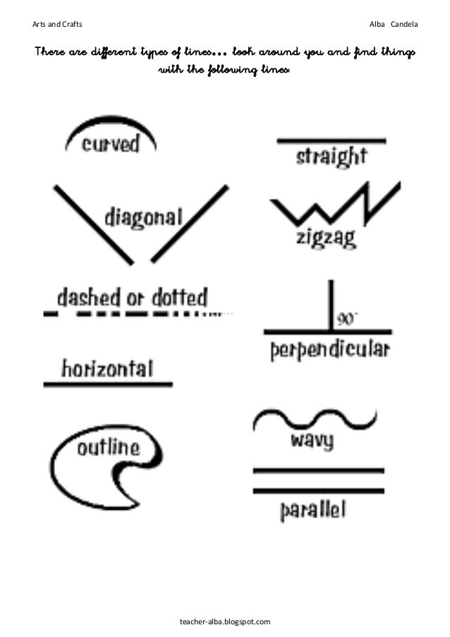 Types Of Lines In Art And Their Meaning : Lines ans shapes booklet