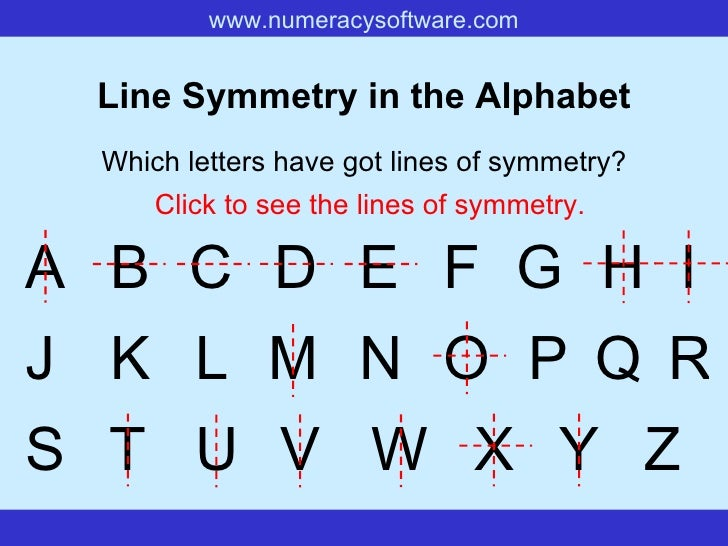 Rotational Symmetry Letters Of The Alphabet Line symmetry