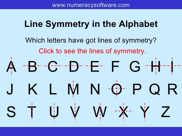 Alphabet+Symmetry+Printable Rotational Symmetry Letters Of The ...