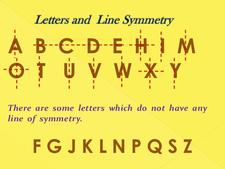 Alphabet+Symmetry+Printable Showing Gallery For Line of Symmetry of ...
