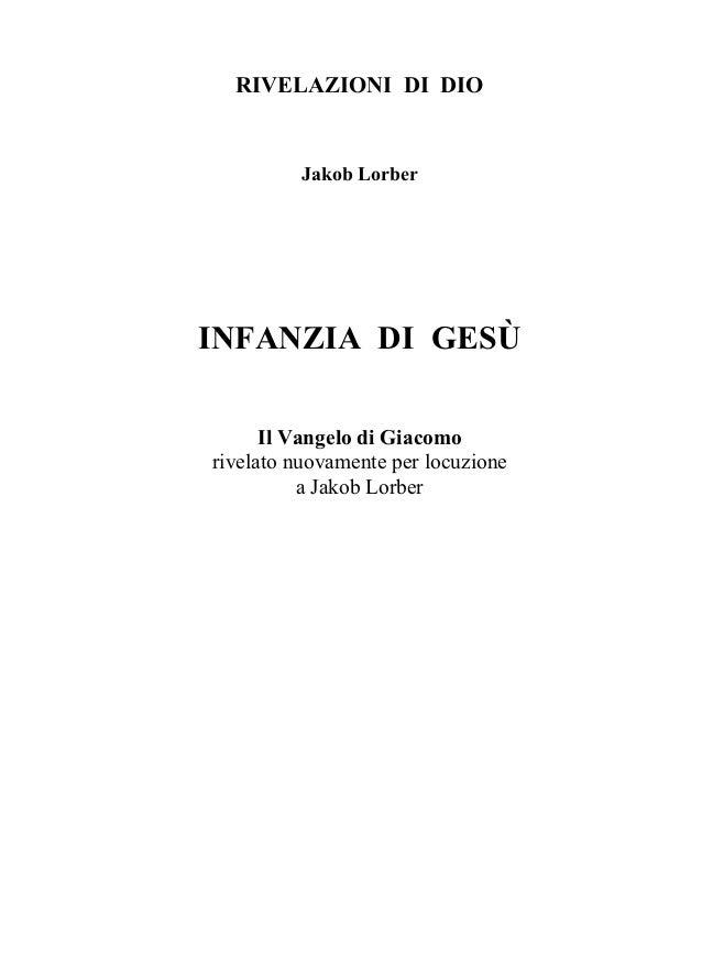 L INFANZIA DI GESU - 10.ed.2010 (Jakob Lorber)