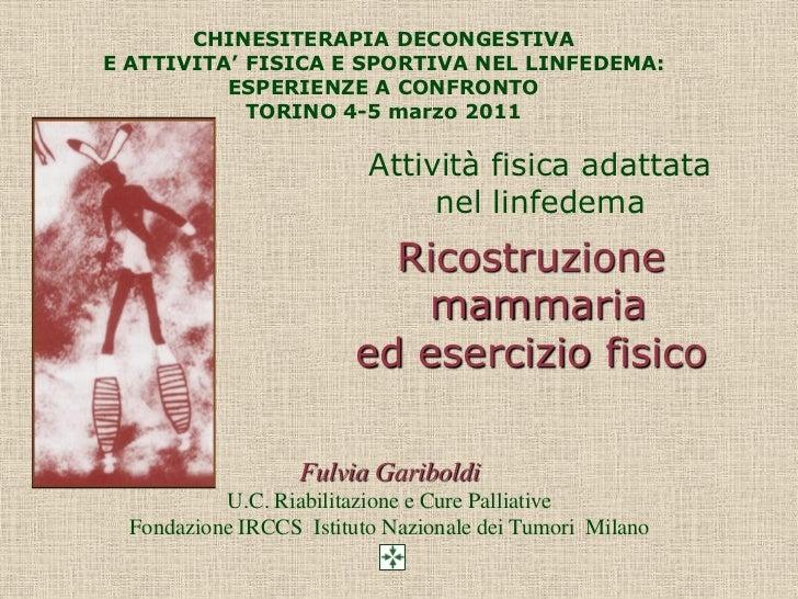 Linfedema torino 4 e 5  marzo   gariboldi fulvia
