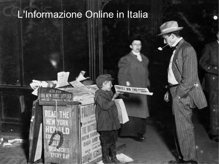 L'informazione online in italia