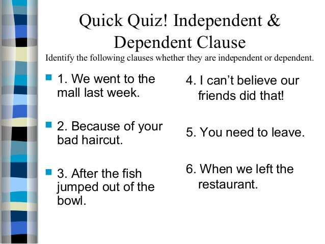 independent clause and dependent clause worksheet Termolak – Dependent and Independent Clauses Worksheets