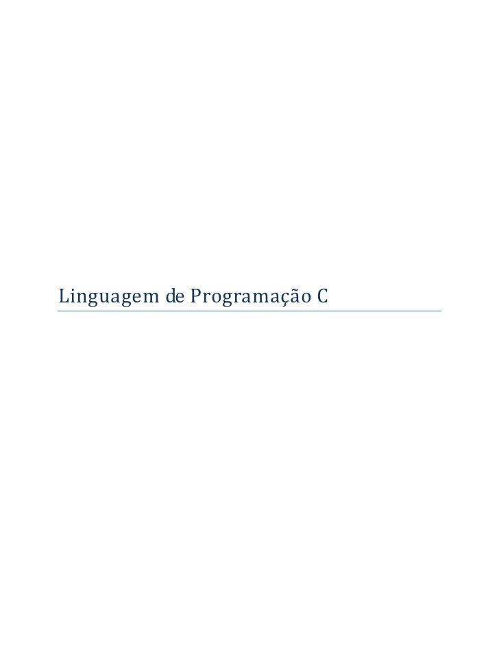 LinguagemdeProgramaçãoC