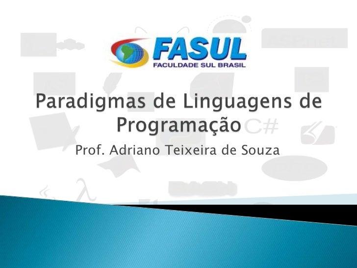 Paradigmas de Linguagens de Programação - Introdução