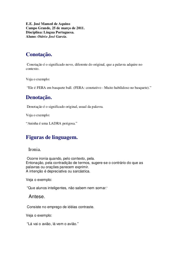 Lingua portuguesa  figuras de linguagens