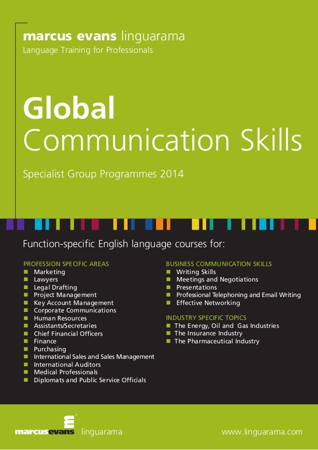 marcus evans linguarama Language Training for Professionals  Global Communication Skills Specialist Group Programmes 2014 ...