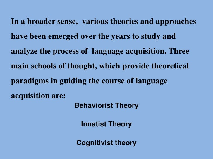 a pacific perspective of behaviourist and cognitivist theories for learning Psychological learning theories behaviorist learning theory cognitive learning theory 46 chapter 3 applying learning theories to healthcare practice according to the behaviorist learning theory.