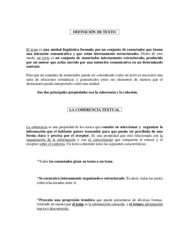 DEFINICIÓN DE TEXTOEl texto es una unidad lingüística formada por un conjunto de enunciados que tienenuna intención comuni...