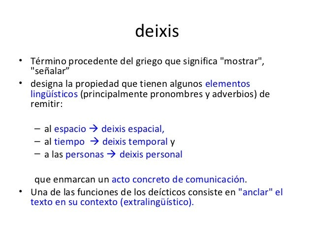 thesis on deixis Recommended thesis topics/department of english linguistics recommended thesis topics/department of english linguistics deixis: this and that 3.