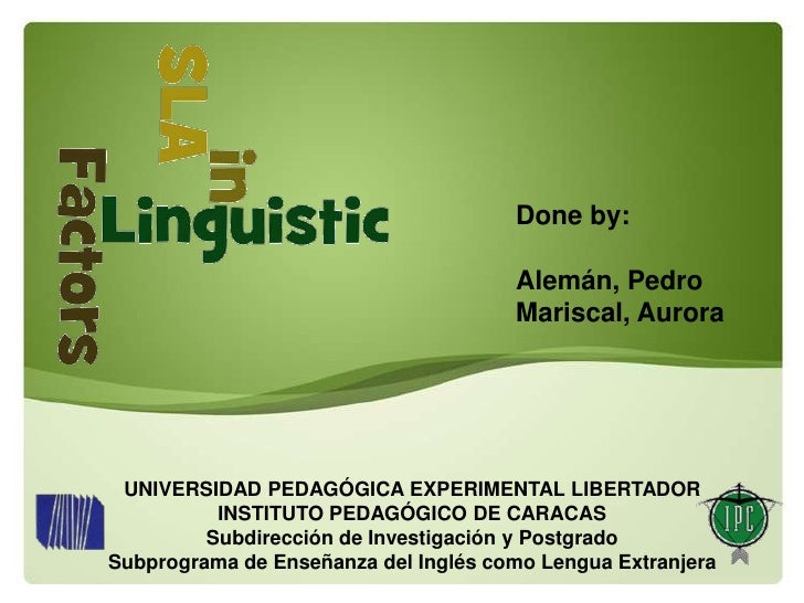 Linguistic factors presentation