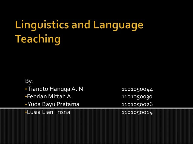 Linguistics and language teaching