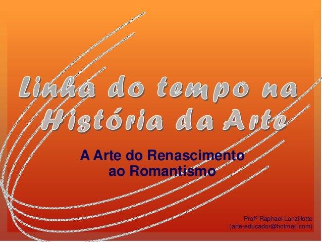 A Arte do Renascimento ao Romantismo Profº Raphael Lanzillotte (arte-educador@hotmail.com)