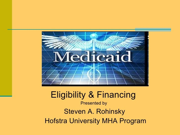 Eligibility & Financing  Presented by  Steven A. Rohinsky Hofstra University MHA Program