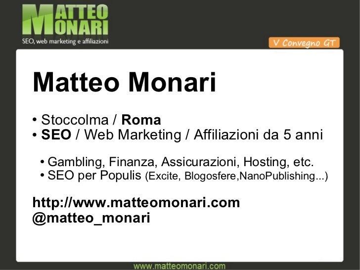 Link Profile a Prova di Spam Team - V Convegno GT - Riccione 2010