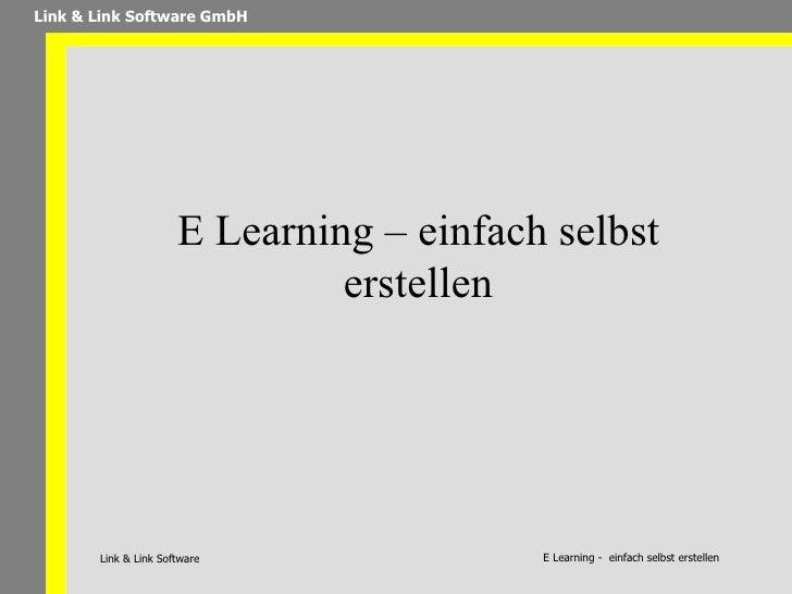 Andreas Link: E Learning – einfach selbst erstellen
