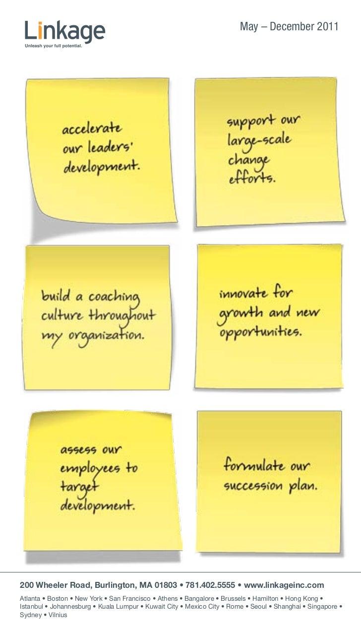Linkage Training Programs: May-December 2011