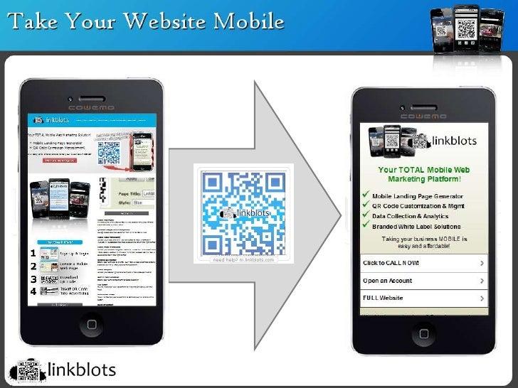 Linkblots QR Codes & Mobile Landing Pages