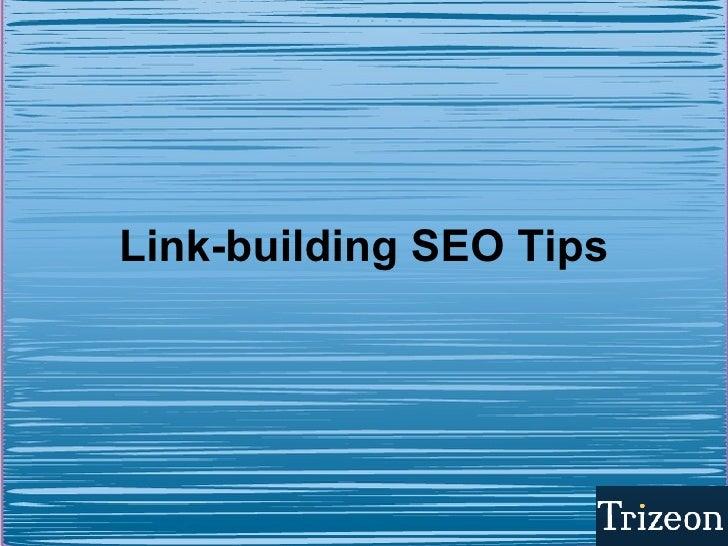 Link Building Seo Tips