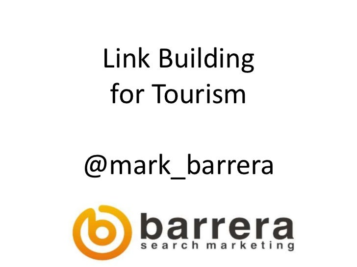 Link Building for Tourism