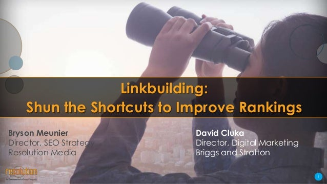Link Building 2014: Shun the Shortcuts to Improve Search Rankings
