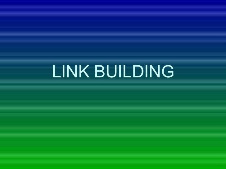 Link building ppt