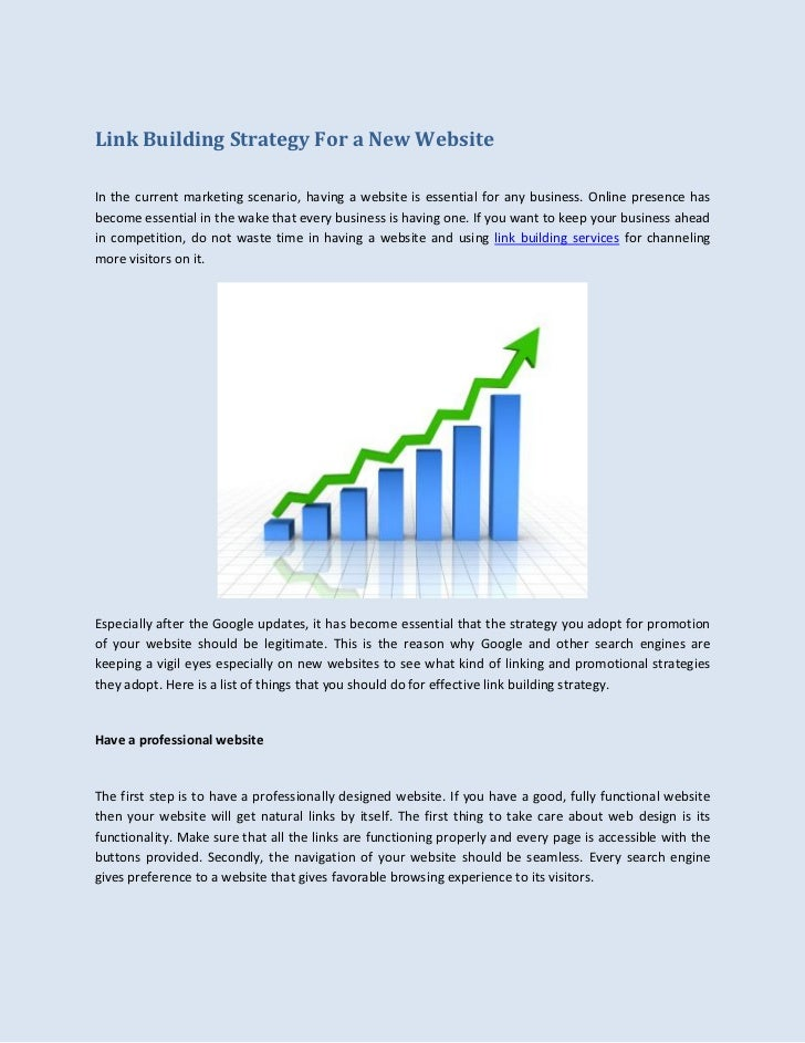 Link Building Strategy For a New Website