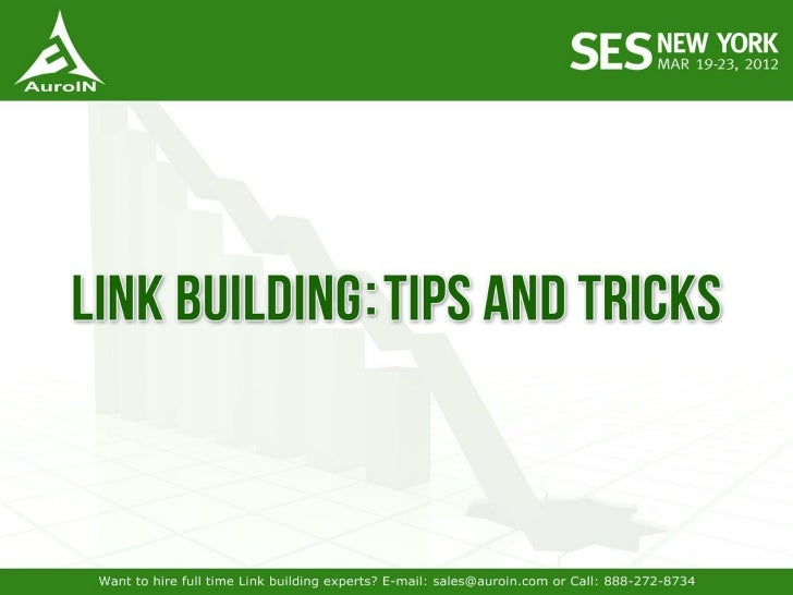 Link Building Tips and Tricks