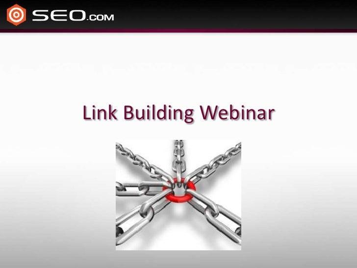 Link building webinar