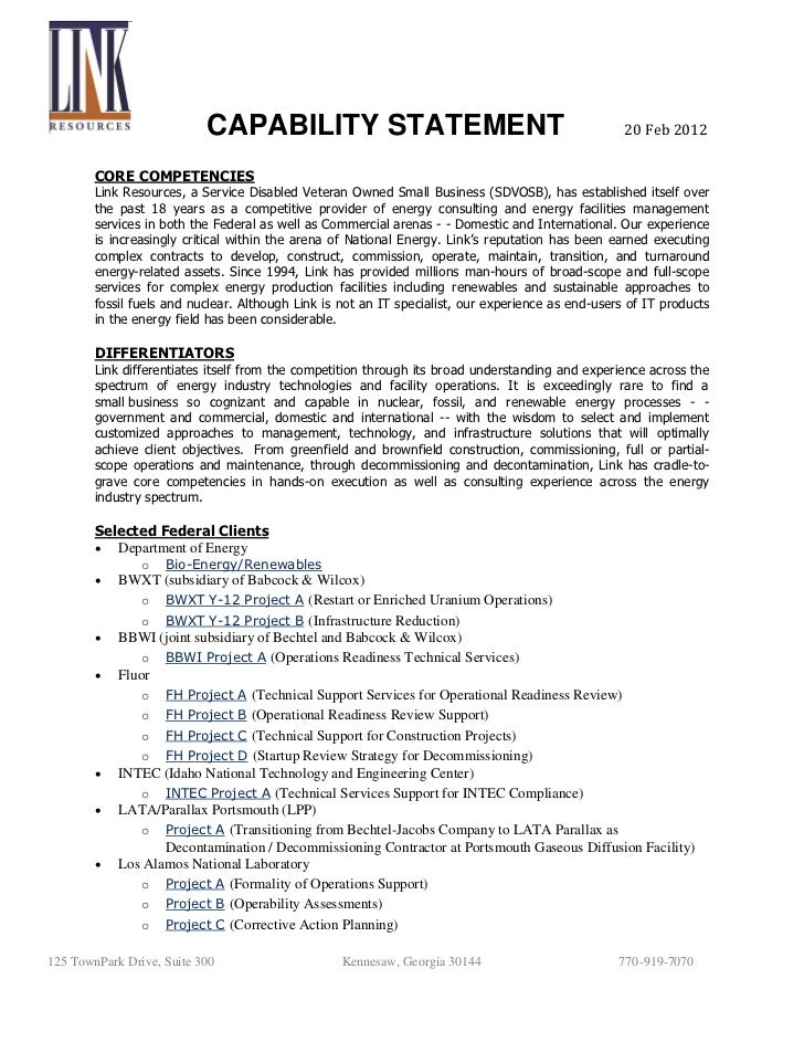 Alfa img - Showing > Nuclear Corporate Capabilities Statement Template