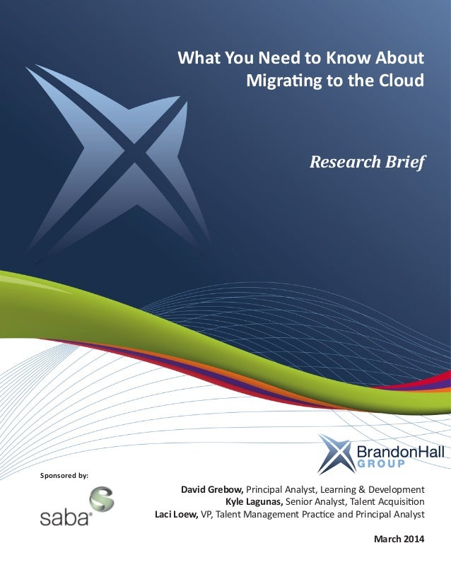What You Need to Know About Migrating to the Cloud