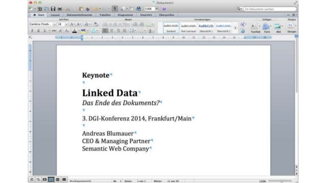 Linked Data - Das Ende des Dokuments?